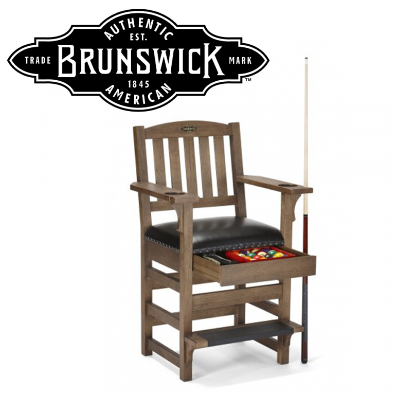 Brunswick logo and game chair