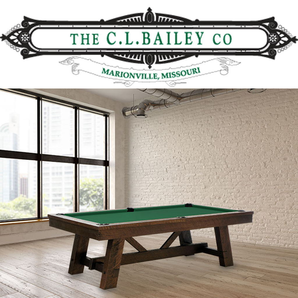 CL Bailey logo and pool table